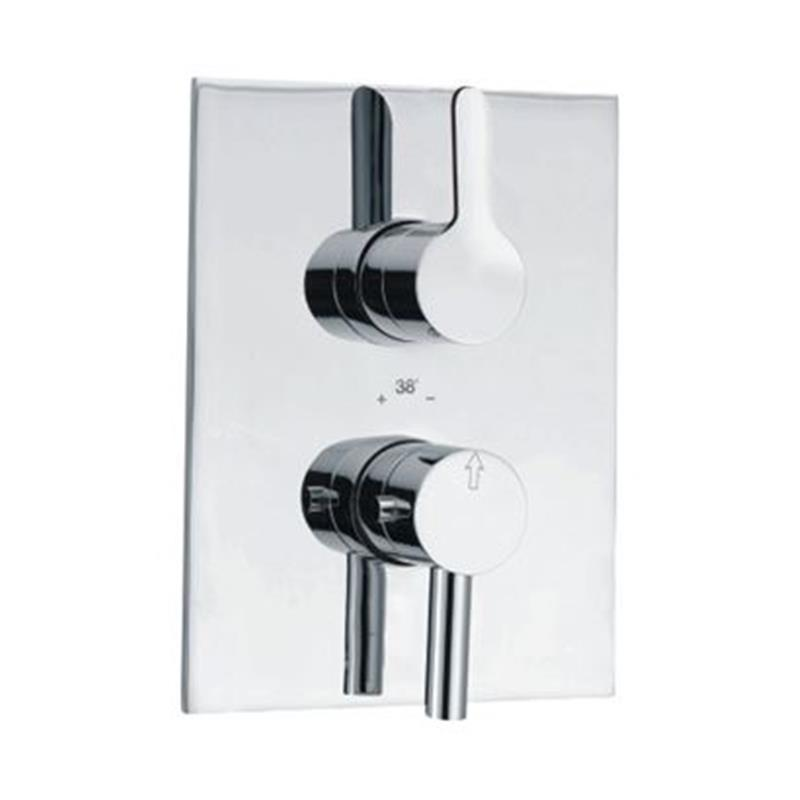 Fusion Thermostatic Concealed Shower Valve 20mm with Built-in Non Return Valves, HP 1.0