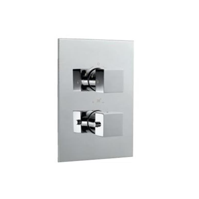kubix Thermostatic Concealed Bath and Shower Valve 20mm with Built-in Non Return Valves, HP 1.0