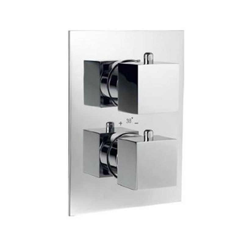 kubix Thermostatic Concealed High Flow Shower Valve 20mm with Built-in Non Return Valves, HP 1.0