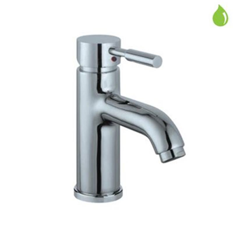 Solo Single Lever Basin Mixer without Popup Waste, with 375mm Long Braided Hoses, HP 1.0
