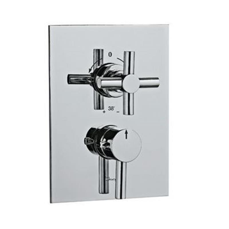 Solo Thermostatic Concealed Bath and Shower Valve 20mm with Built-in Non Return Valves, HP 1.0