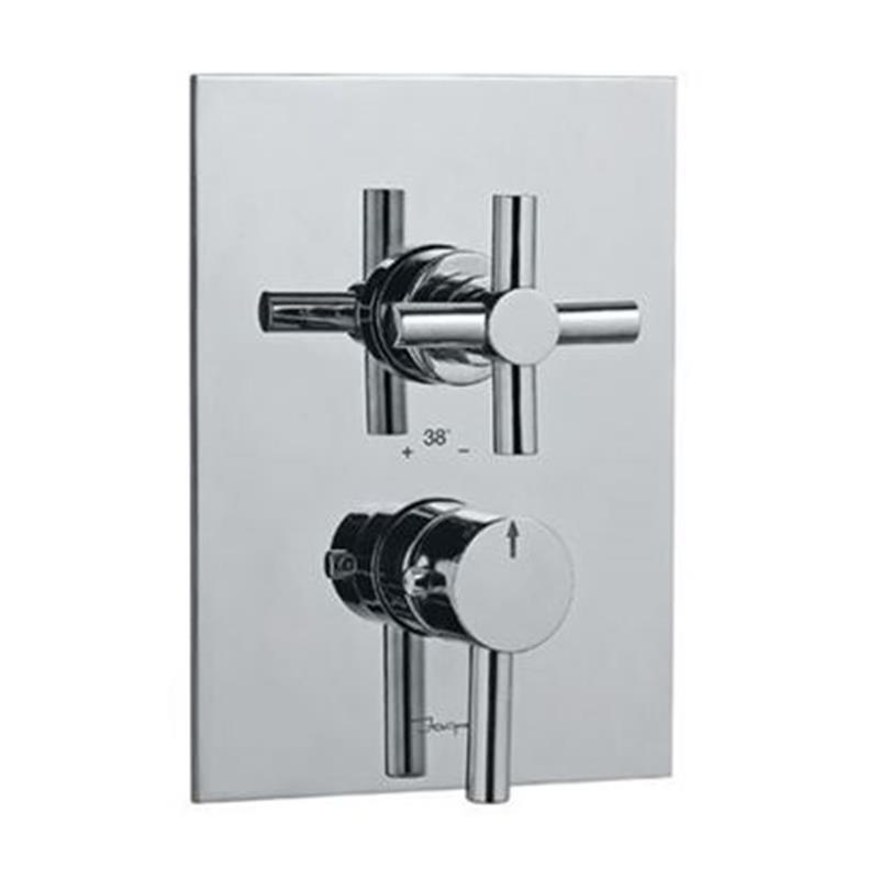 Solo Thermostatic Concealed Shower Valve 20mm with Built-in Non Return Valves, HP 1.0
