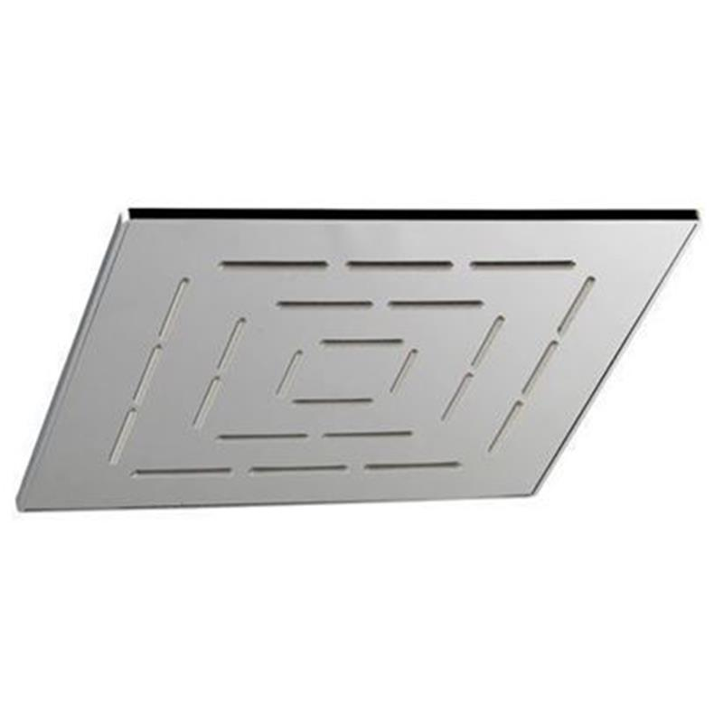 Single Function 240X240mm Square Shape Maze Overhead Shower, Stainless Steel, MP 0.5