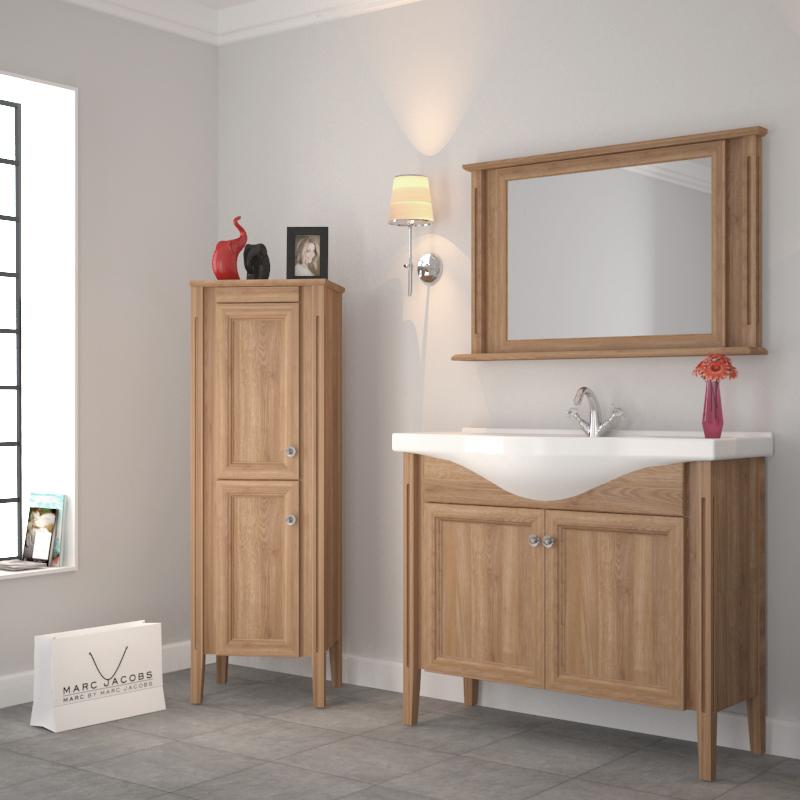 Oak Bathroom Vanity Unit And Basin