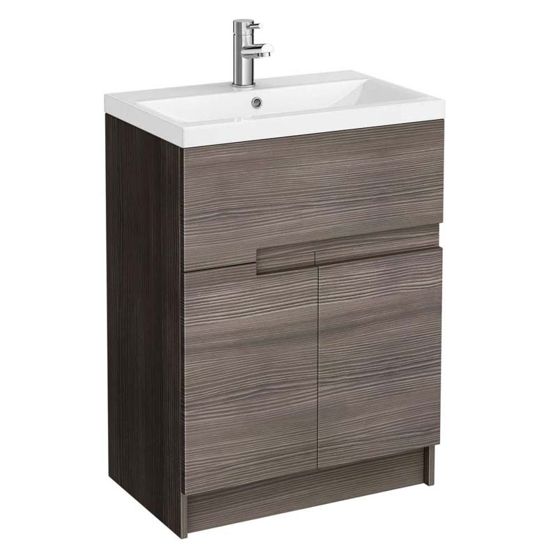 Urban 600mm Free Standing Bathroom Furniture Vanity Unit And Basin Buy Online At Bathroom City