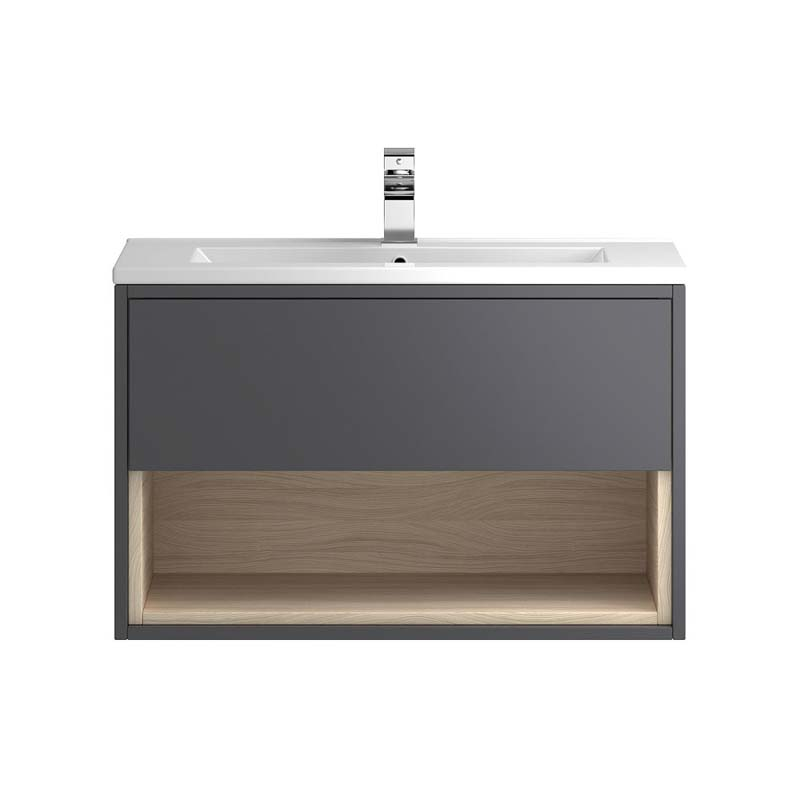 Coast 800mm Wall Hung Bathroom Cabinet And Basin Buy Online At Bathroom City