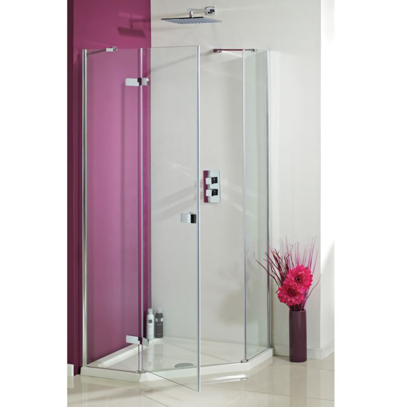 Idyllic 1200 x 900 frameless neo angled hinged door buy for 1200 hinged shower door