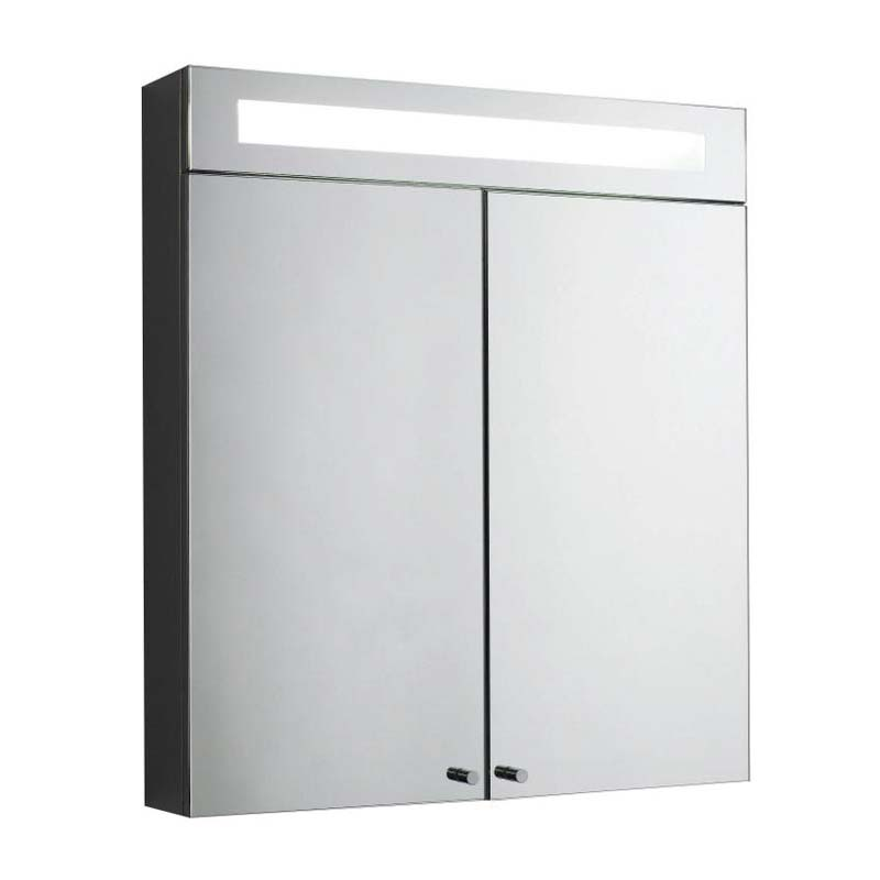 Stainless steel tucson double mirror cabinet with light for Bathroom cabinets tucson