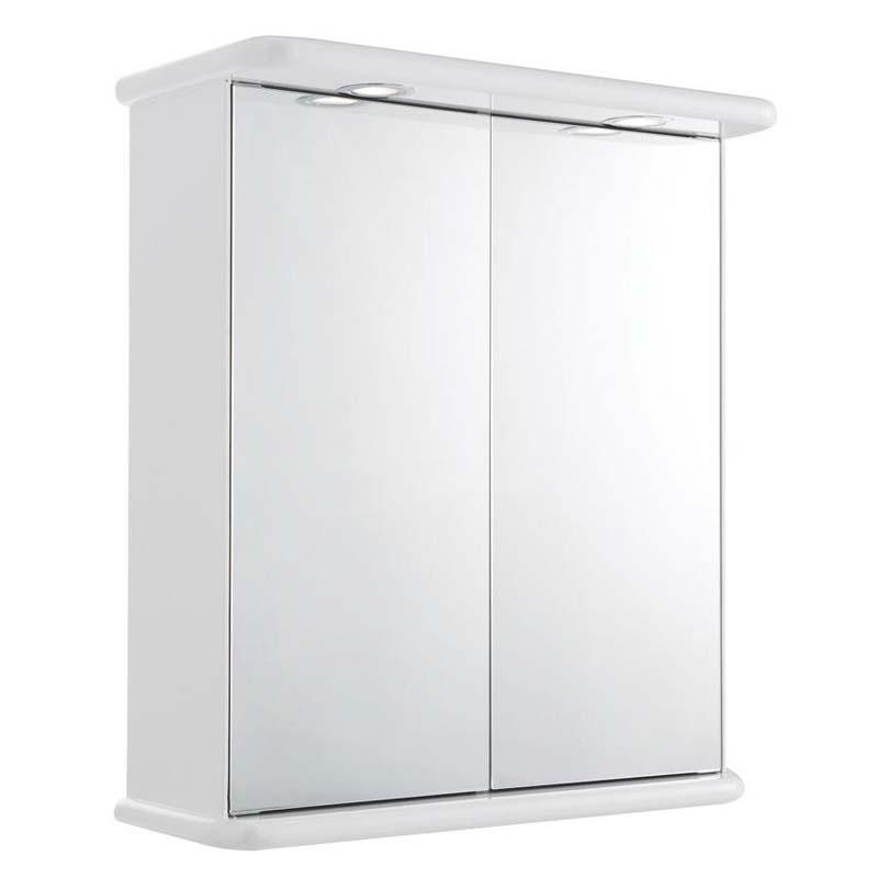Buy White Gloss Niche Double Mirror Cabinet & Light Online