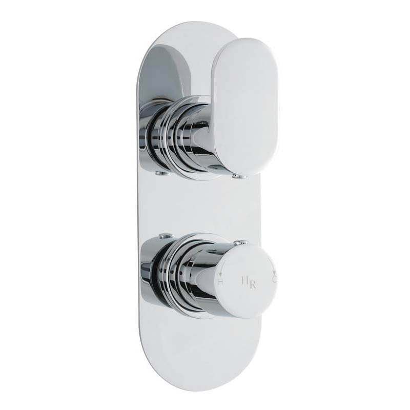 Chrome Reign Thermo Twin Valve Rect
