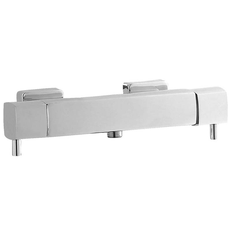 Chrome Quadro Thermo Bar Valve Bottom Outlet