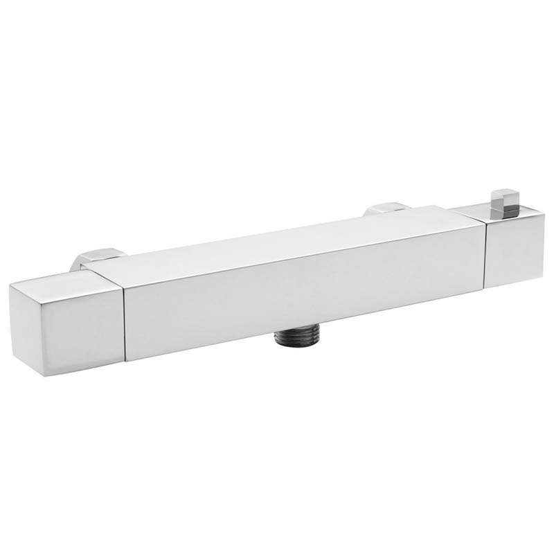 Chrome Square Thermo Bar Valve Bottom Outlet