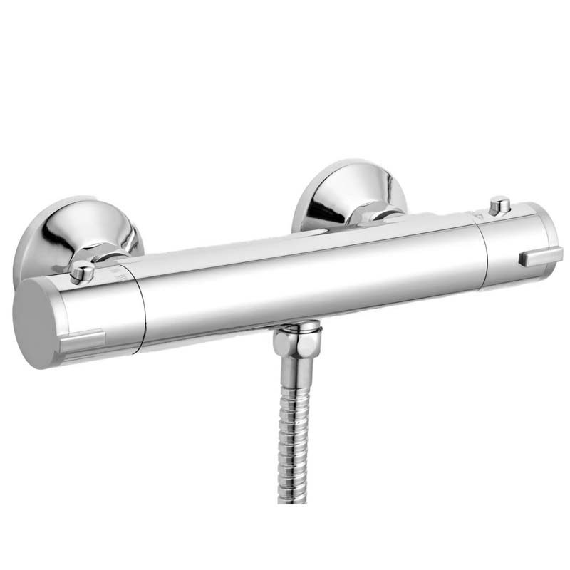 Chrome ABS Thermostatic Bar Valve Bottom Outlet