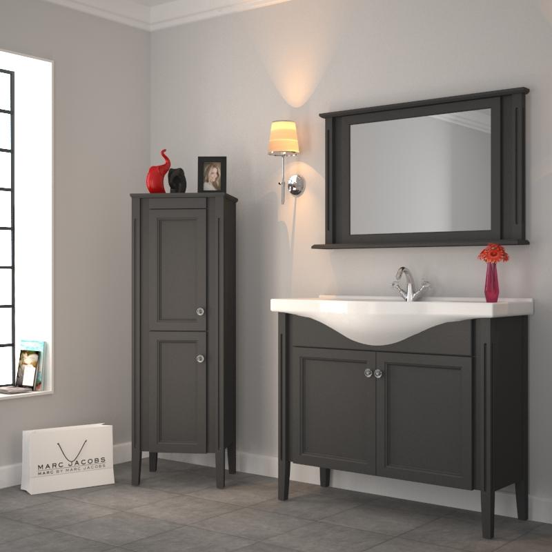 Old England 1050 Traditional Solid Grey Oak Bathroom Vanity