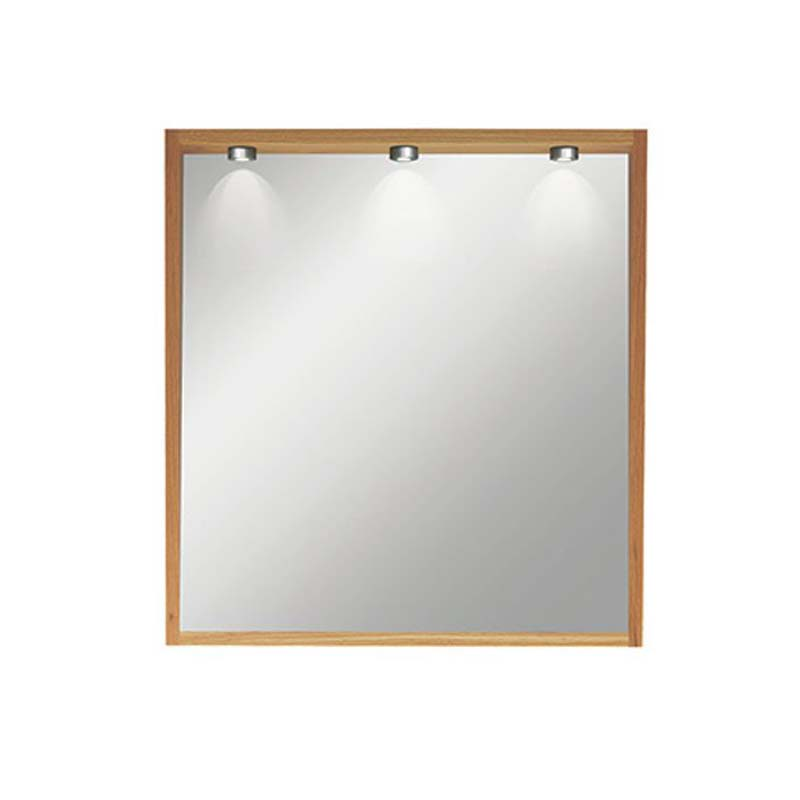 Canterbury Large Mirror with Lights Rosedale White