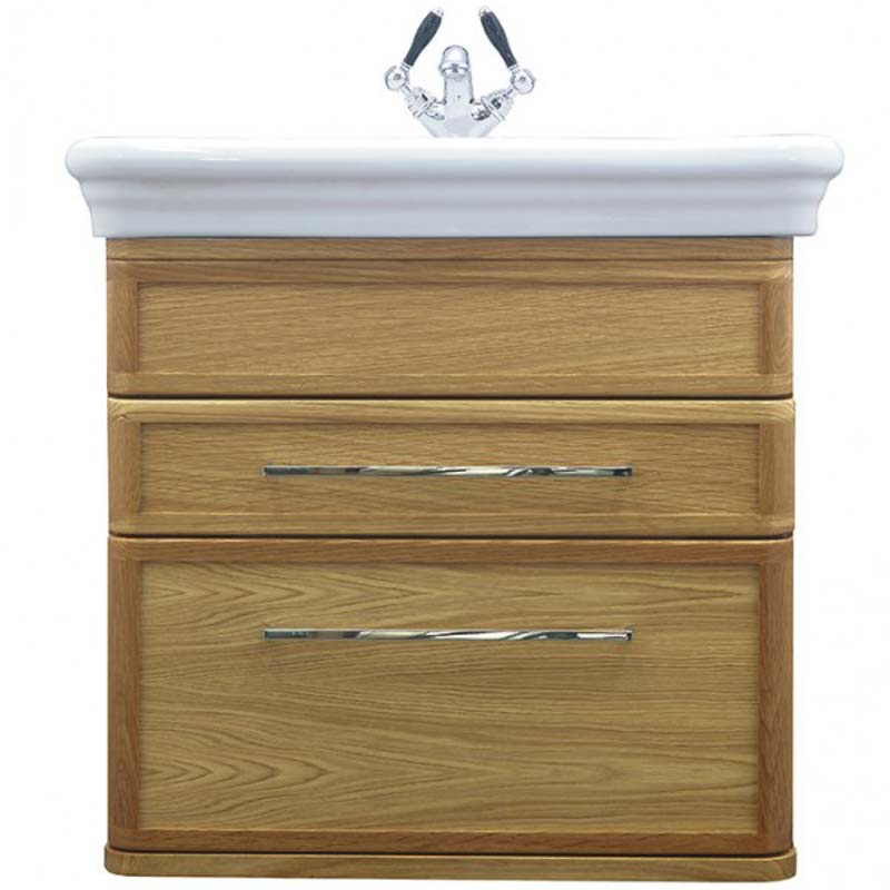 Canterbury Large Wall Hung Vanity Unit Rosedale White