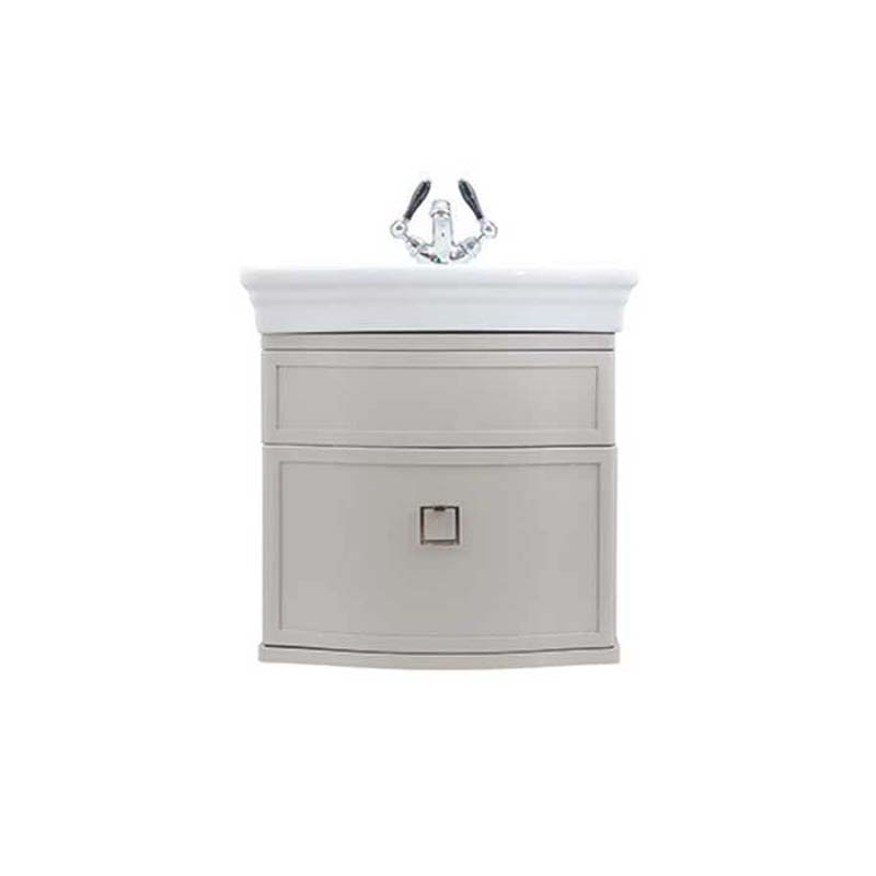Verona Small Basin Wall Hung Vanity Unit Rosedale White