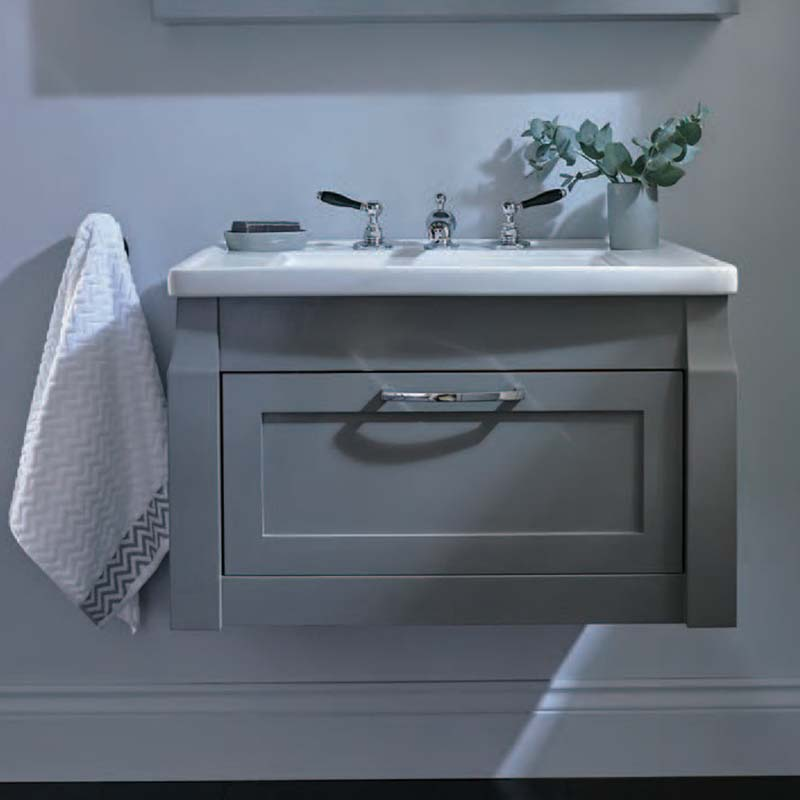 Westbury Wall Hung Vanity Unit with 1 Drawer Rosedale White