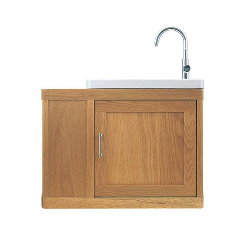 Thurlestone Traditional Cloak Offset Bathroom Vanity Unit R H Solid Wood Buy Online At Bathroom City