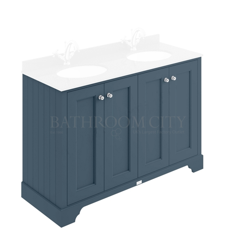 STIFFKEY BLUE 1200MM 4 DOOR BASIN CABINET