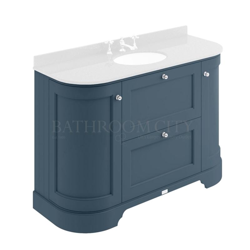 STIFFKEY BLUE 1200MM 2 DRAWER/CURVED DOOR BASIN CABINET