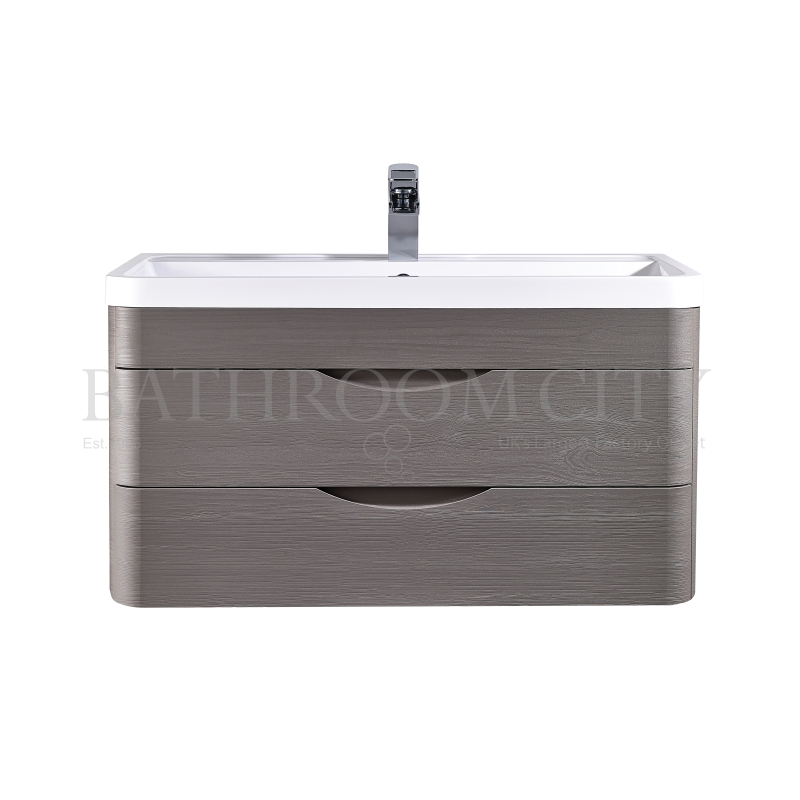 Eclipse Wall Hung 800mm Cabinet & Basin