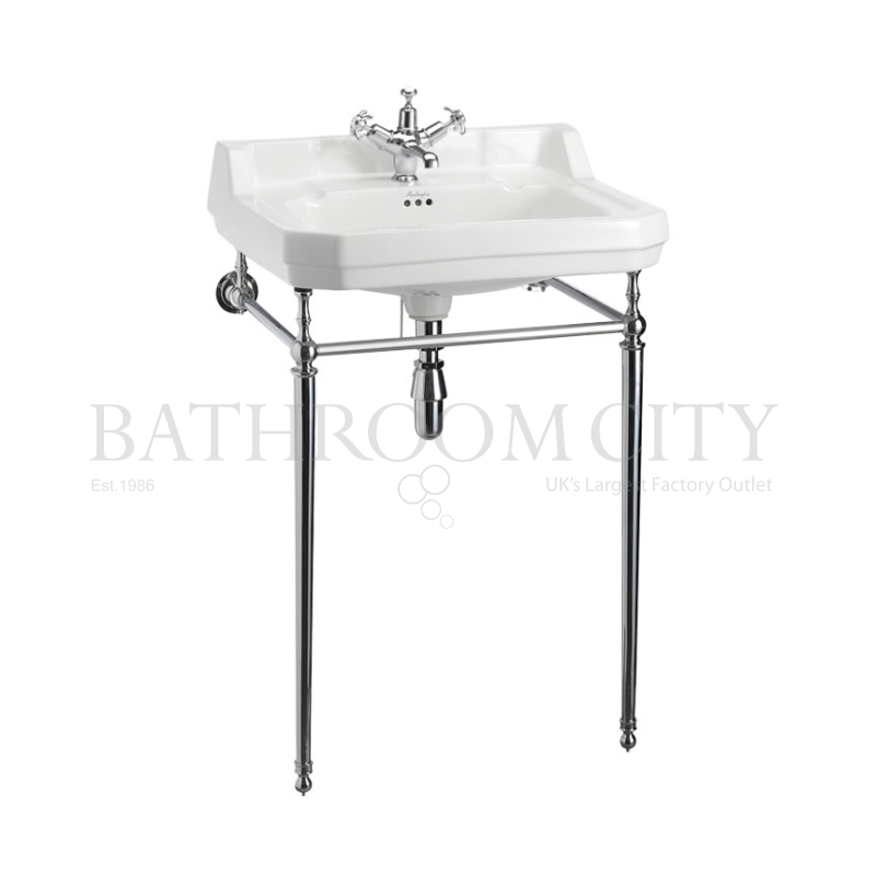 Edwardian Basin 61cm 1TH And wash stand