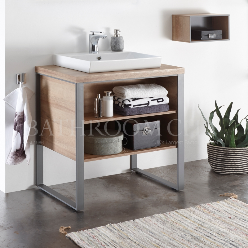 Solitaire 9025 Traditional 1080  vanity unit with legs, open shelf, counter top and basin PG1