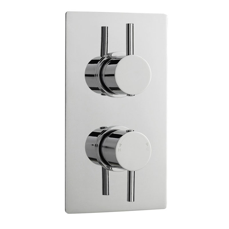PIONEER TWIN THERMO VALVE ROUND HANDLES