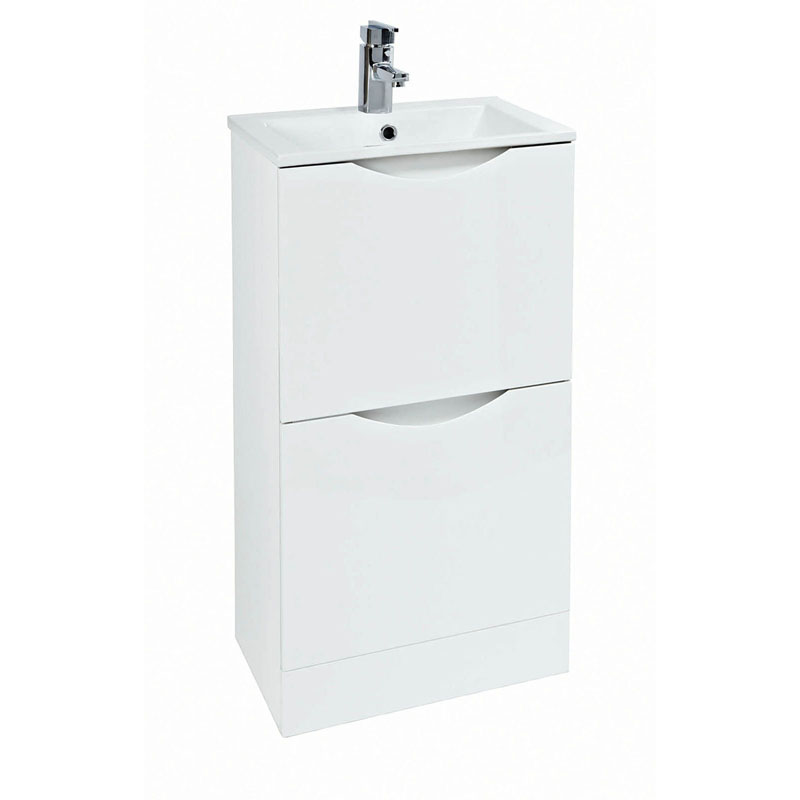 MALMO Floor Standing Unit and Basin 40 White