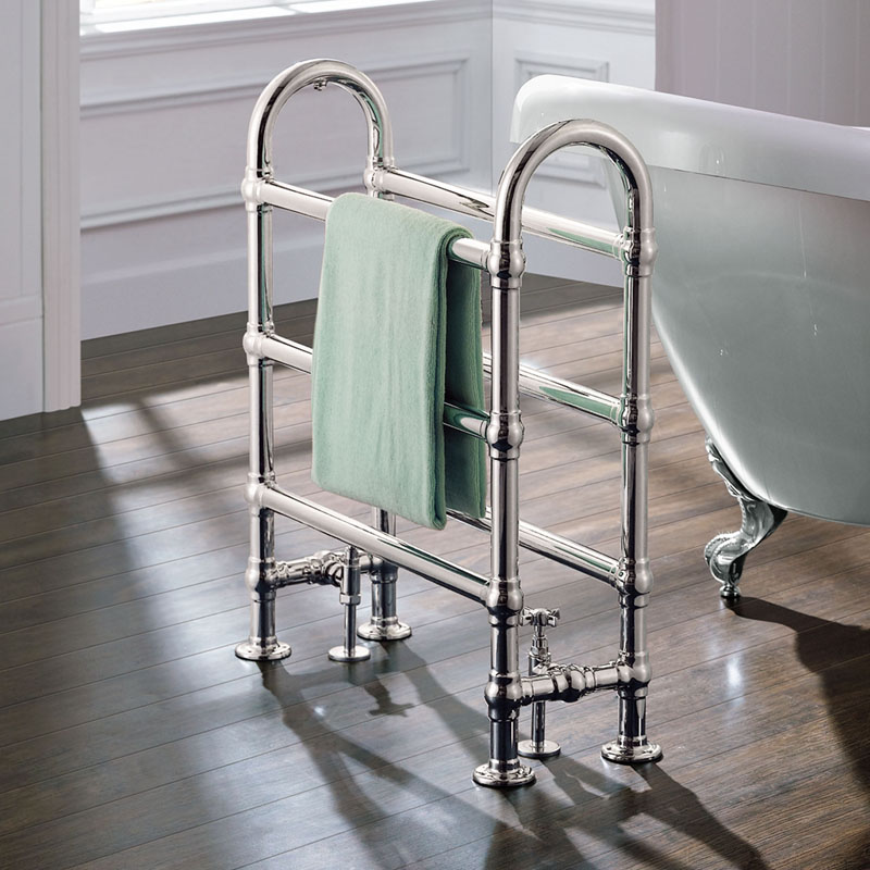 AMELIA 680 x 770 x 220 Chrome Radiator Floor Standing