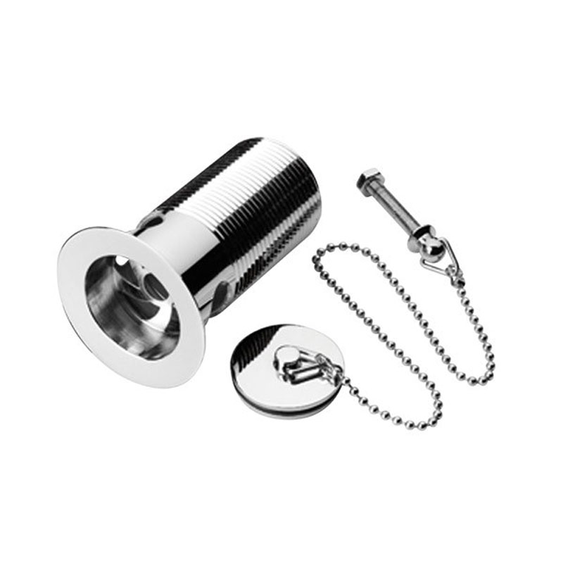 1 Quater inch Basin Waste with Solid Brass Plug & Chain (Chrome)
