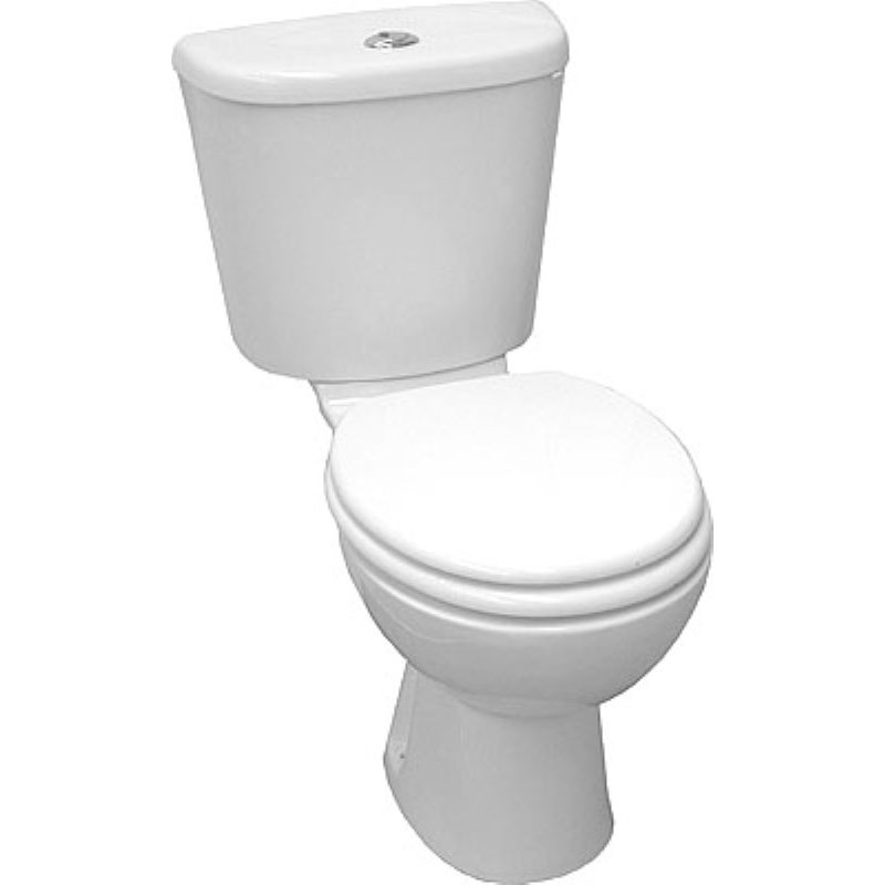 Jazz White Close Coupled Toilet / WC and Soft Close Toilet Seat