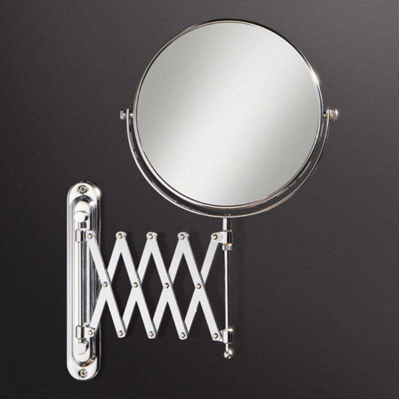 Rossi Double Side Round Bathroom Mirror Extendable up to 480mm