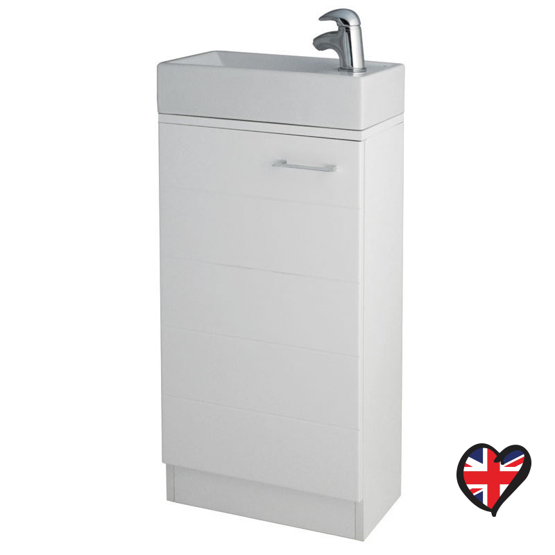 Mercury 410mm Vanity Unit with Fiord Basin / Sink