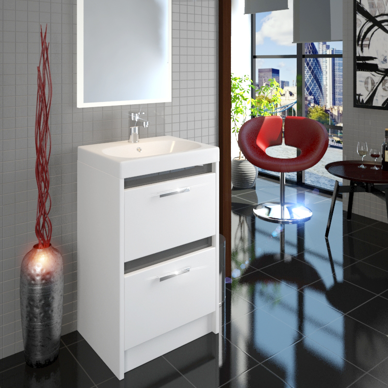 Switch Iconic 500mm Two Drawer Vanity Unit and Basin