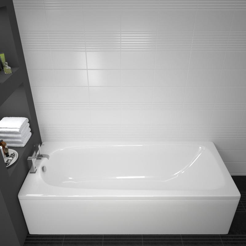Mercury 1500x700mm Straight Acrylic Bath