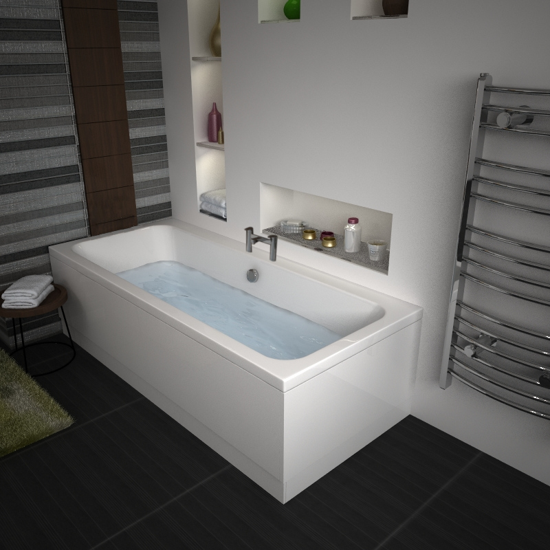 Vernwy 1800x900 Large Double Ended Bath Buy Online at Bathroom City