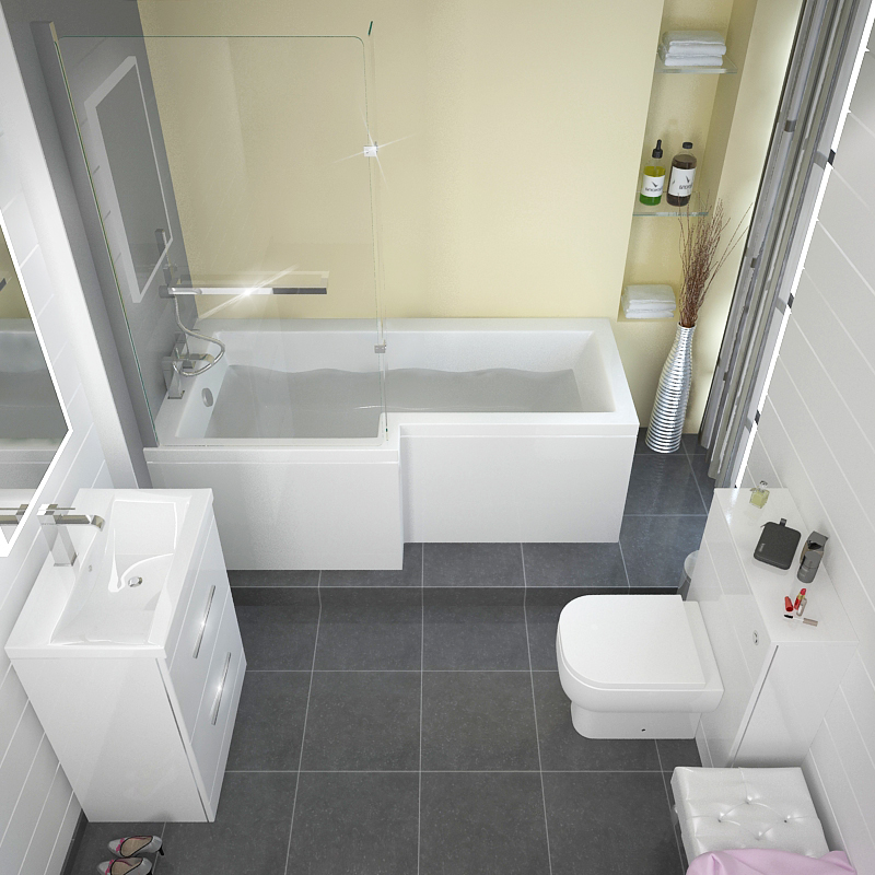 L shape shower bath left handed buy online at bathroom city for What is the best bathtub to buy