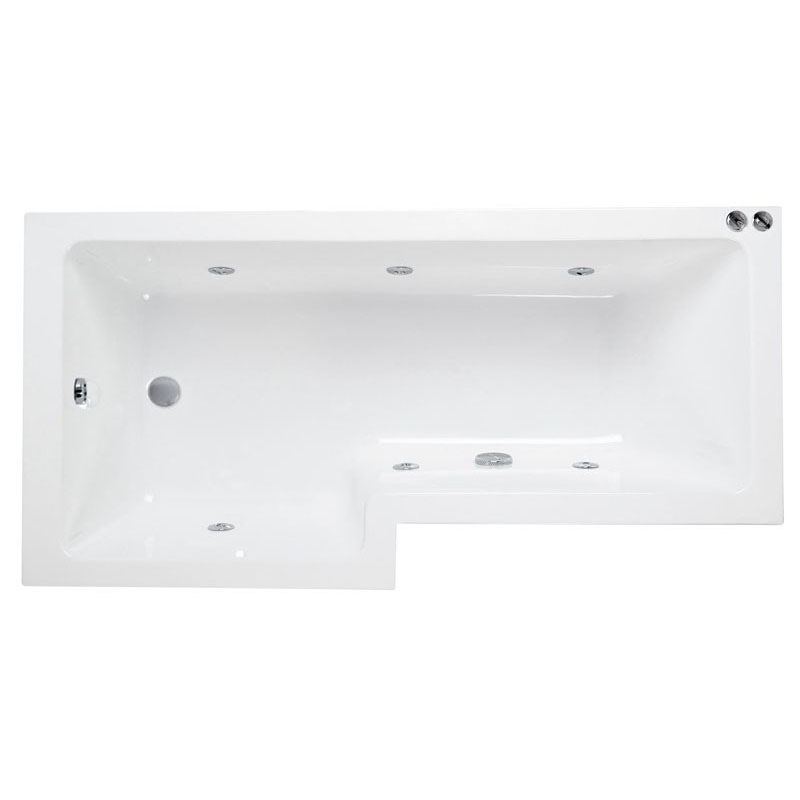 L Shaped Whirlpool Shower Bath (left Handed) Buy Online at Bathroom City
