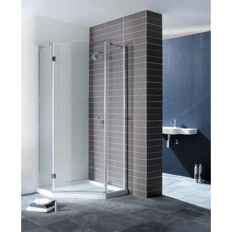 Design Semi Frameless Shower Pentagon Enclosure Buy Online