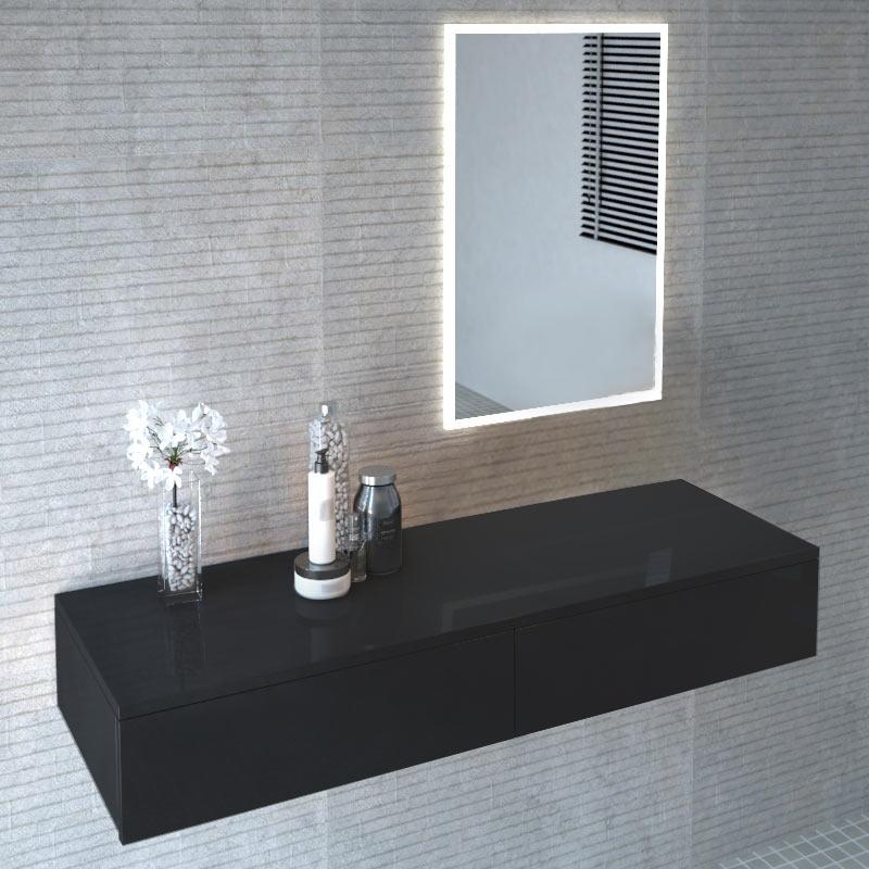 Cloud Wall Hung Vanity Unit Black Buy Online At Bathroom City
