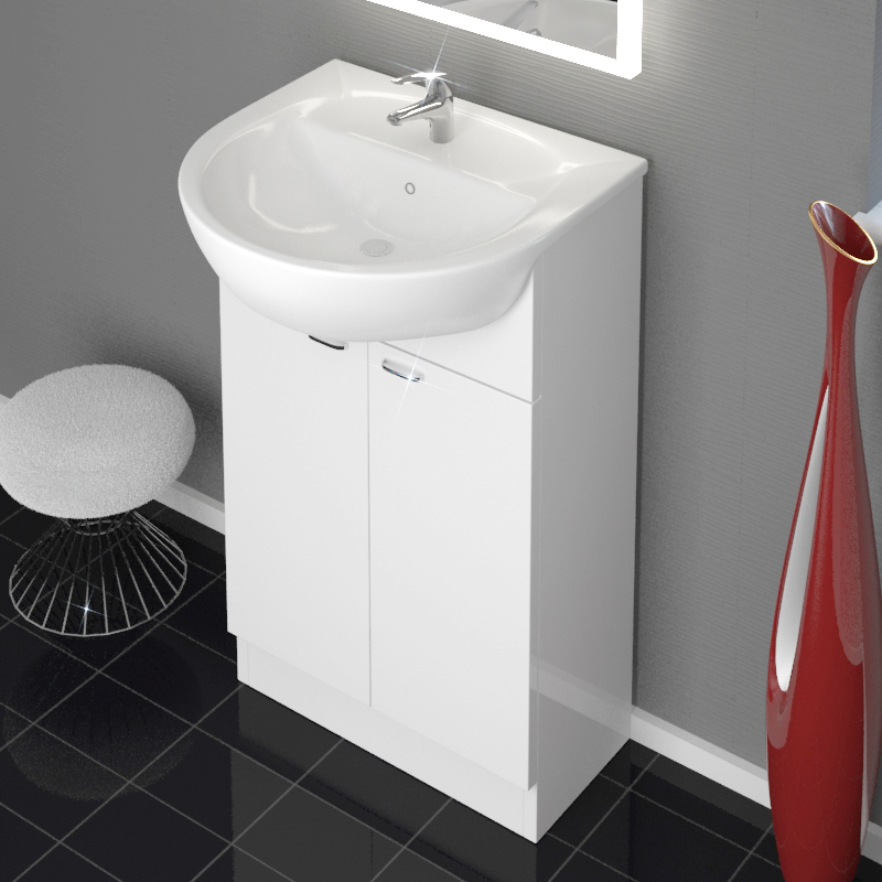 Yubo Vanity Unit with Poma Mono Mixer Tap and Pop-Up Waste