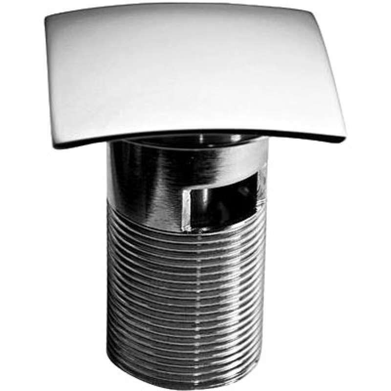 Square Clicker Slotted Basin Waste in Chrome Finish