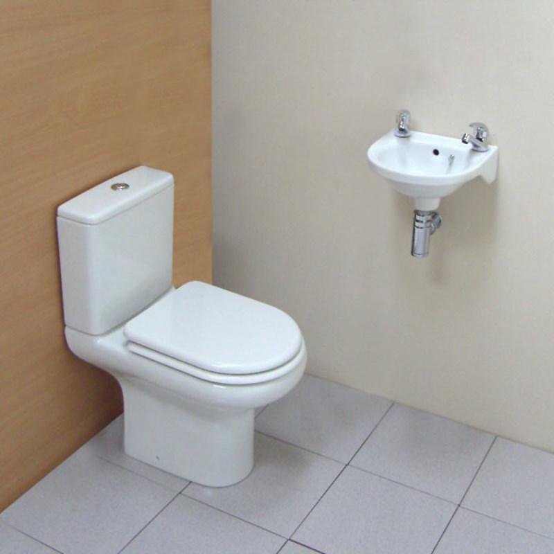 Roseanna compact cloakroom suite buy online at bathroom city for Buy bathroom suite uk