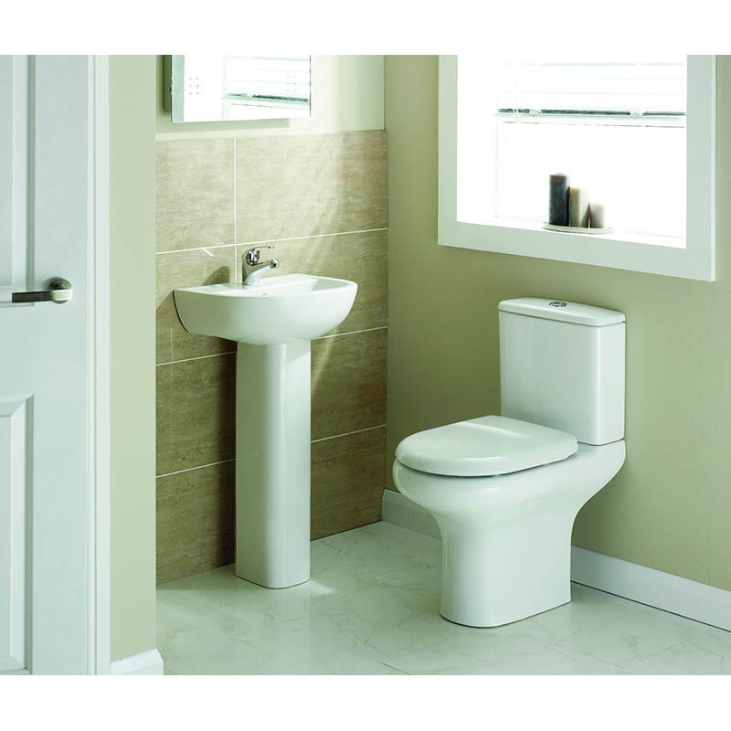 Rak Compact 4 Piece Bathroom Suite with Soft Close Seat