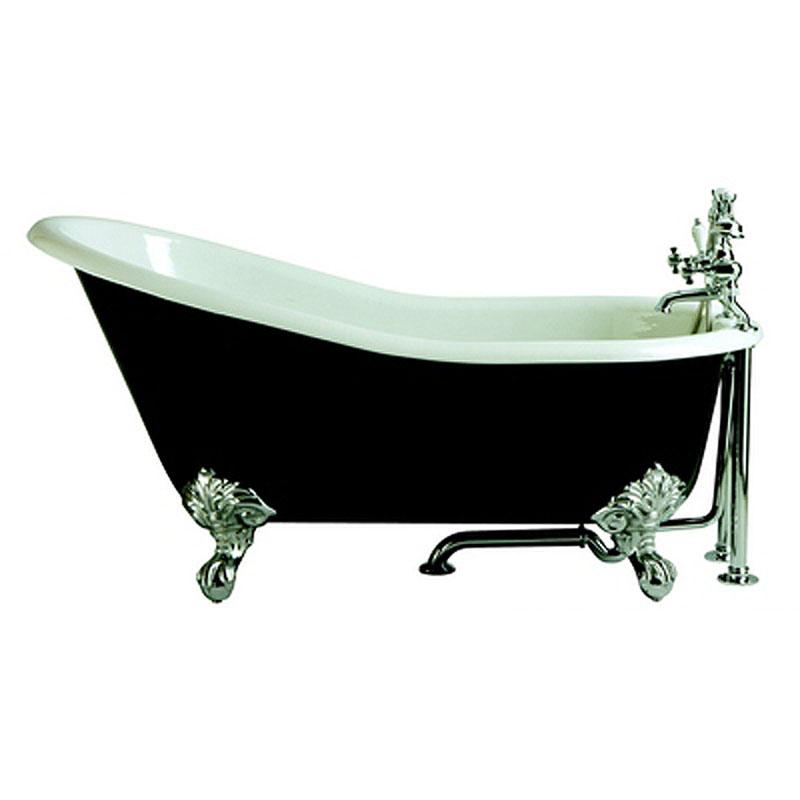 Slipper Bath No Tap Hole White