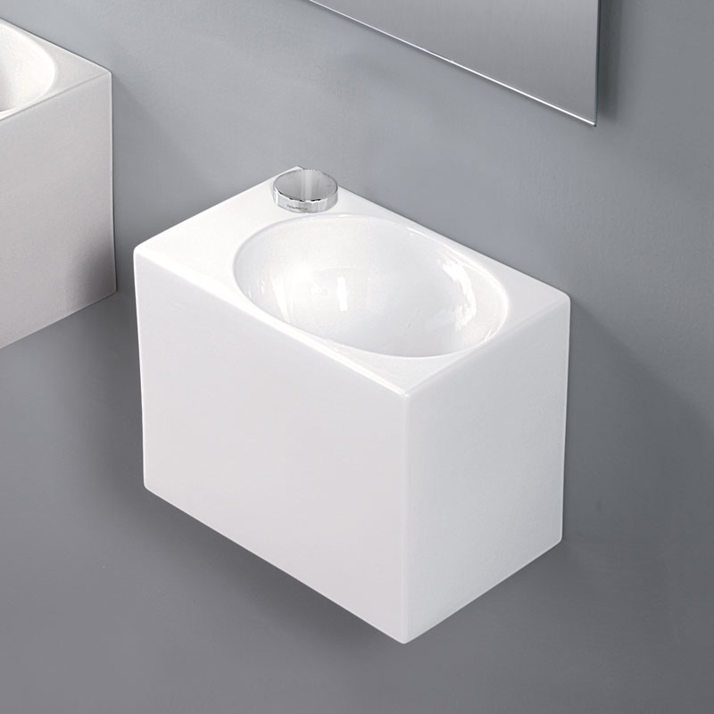 Cubo Ceramic White Basin [L311]
