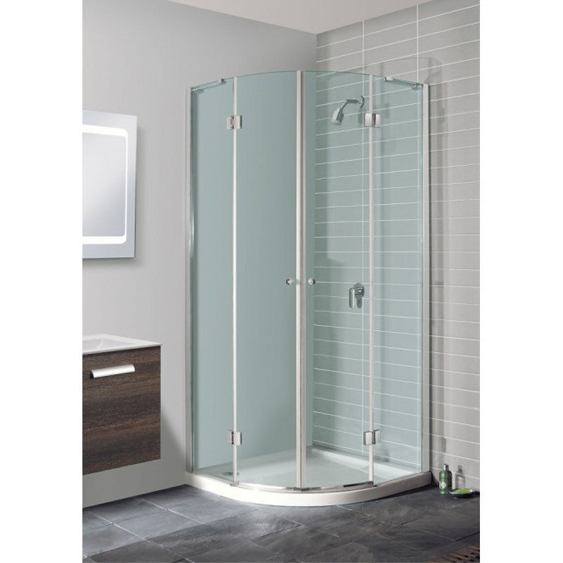 Simpsons design quad double shower cubicle silver buy for Bathroom design quad cities