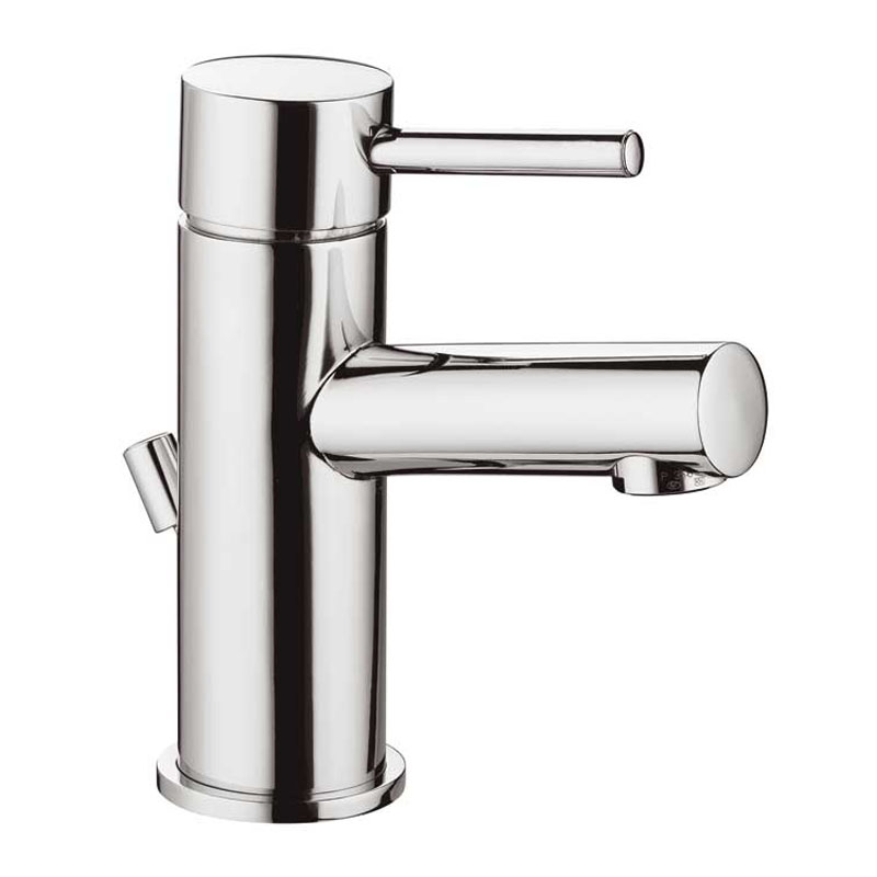 mono basin mixer single lever deck mounted with pop-up waste